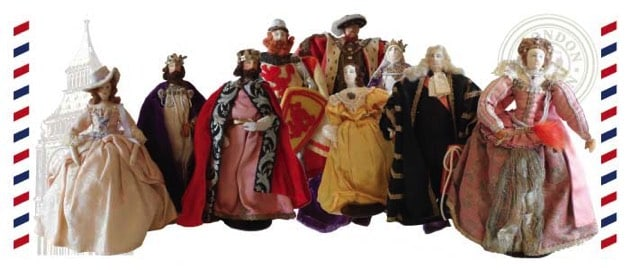Photo of 9 Liberty of London dolls