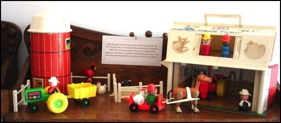 Photo of a farm scene made of 1950s toys