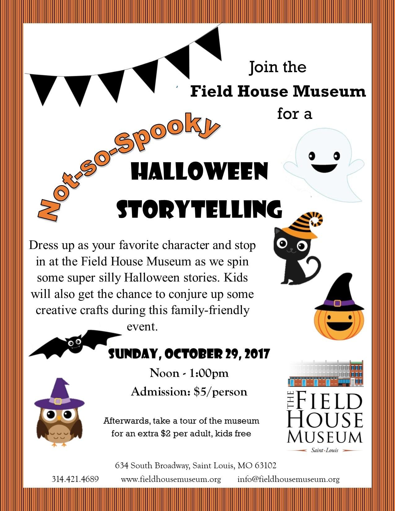 Not-So-Spooky Halloween Storytelling | Field House Museum
