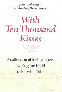"Promotional flyer for ""With Ten Thousand Kisses"" party"