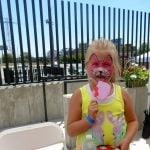 Photo of child with painted face at Teddy Bear Picnic