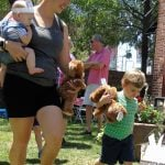 Photo of guests at Teddy Bear Picnic