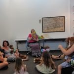 Photo of children and storyteller at Teddy Bear Picnic event