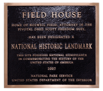 This plaque represents the historic row house as a site of national distinction on the National Historic Landmark Registry, dated 2007.