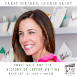 Promotional flyer for Guest Speaker Cheree Berry, featuring a photo of Berry