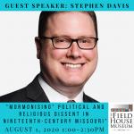 Image advertising Stephen Davis talk on Mormonism
