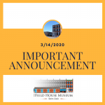 Important Announcements Yellow and White Square